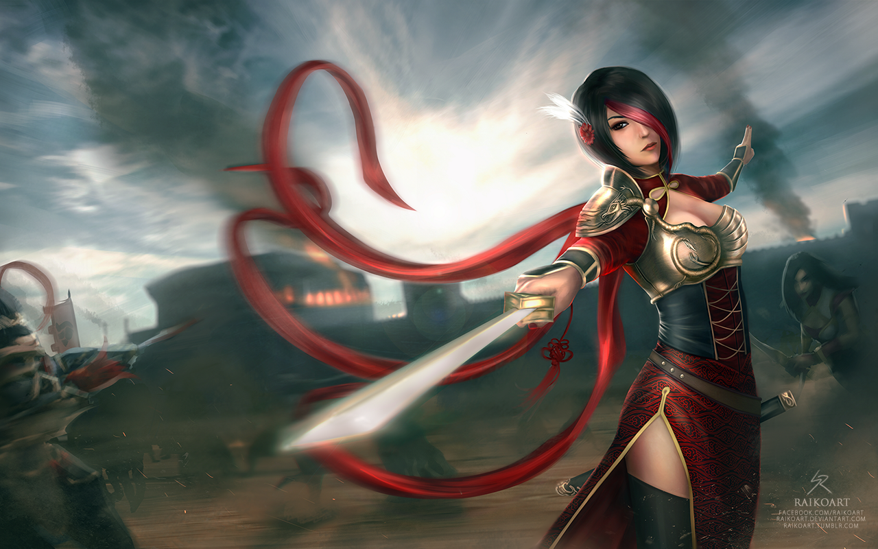 league_of_legends__warring_kingdoms_fiora_by_raikoart-d8o8c2s