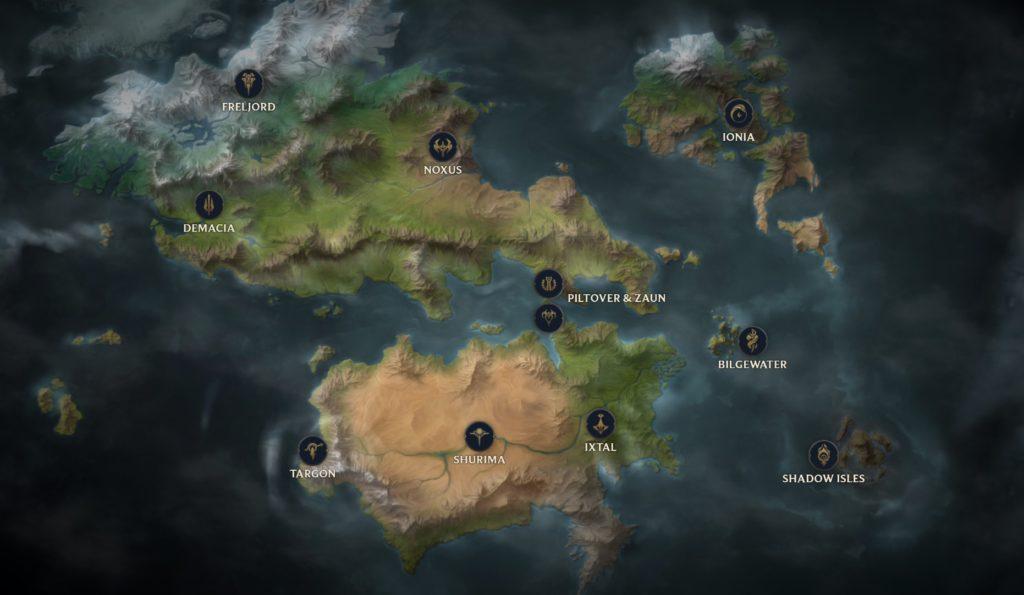 """Aktualna mapa świata """"Runeterra"""""""