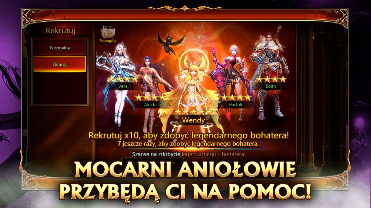 league of angels promo 4 - mocarni aniołowie przybędą ci na pomoc. Ekran rekrutacji bohaterów