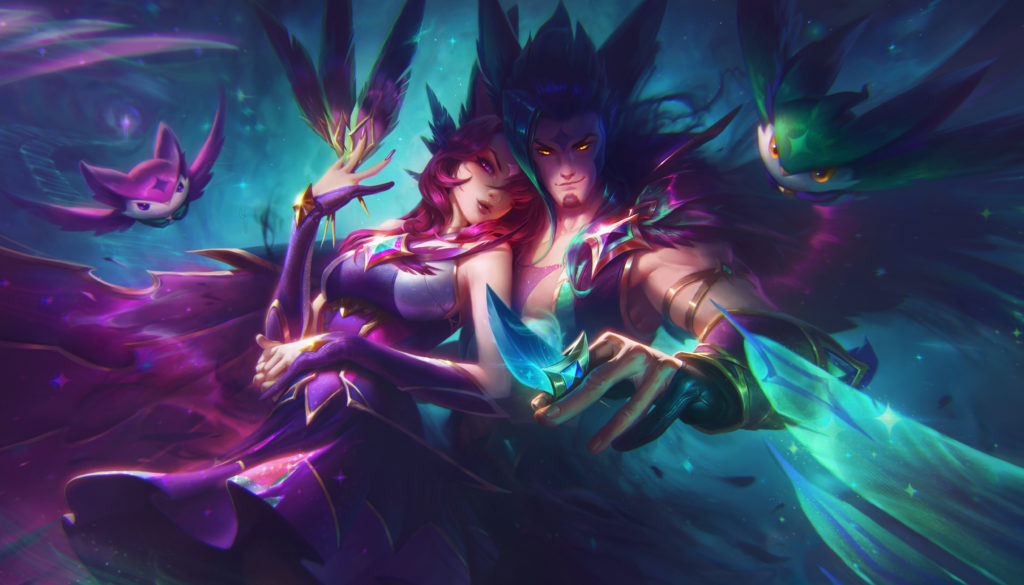 xayah rakan star guardian xayah star guardian rakan league of legends wallpaper full size splash art star guardian sg