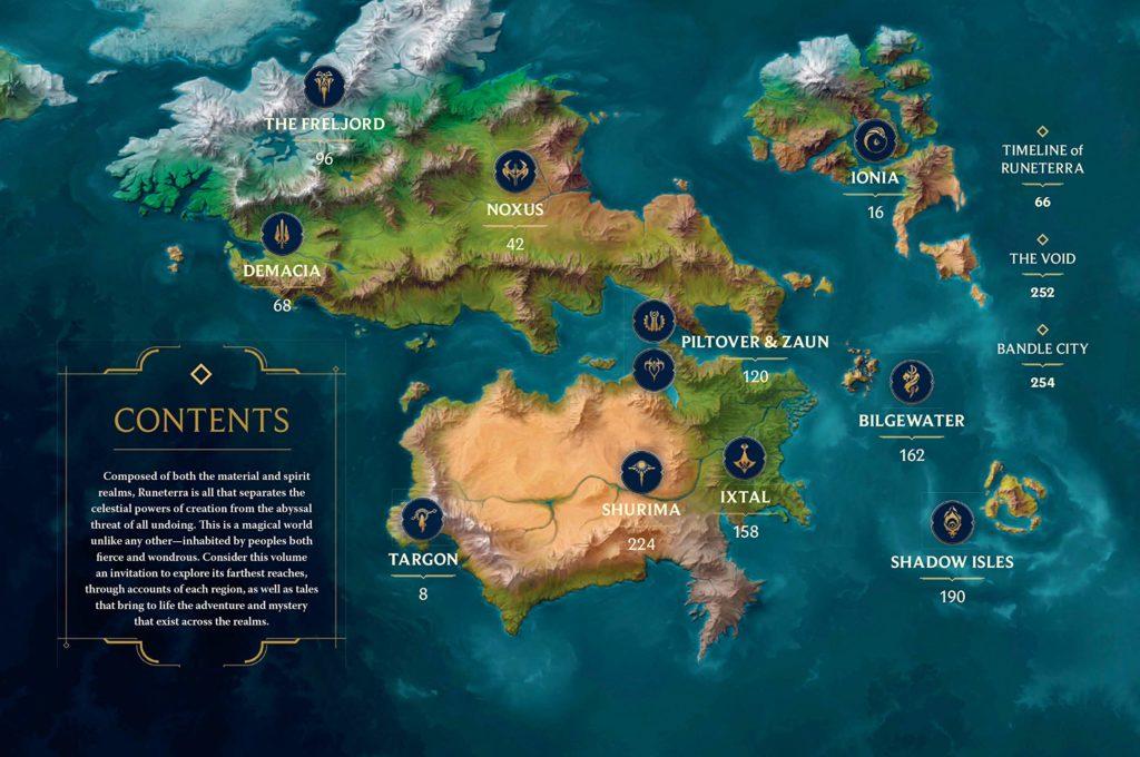 league of legends realms of runeterra map