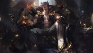 Sett, Gangster - splash art bohatera z gry League of Legends / Riot Games