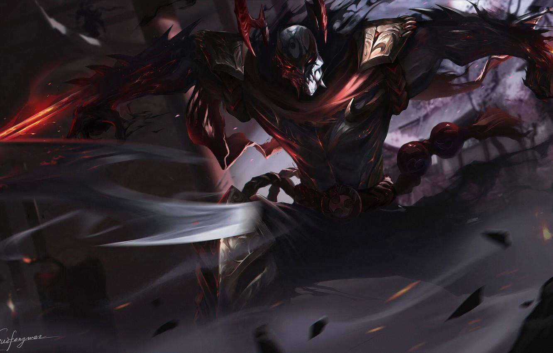 Custom skin Blood Moon Zed - grafika koncepcyjna #3