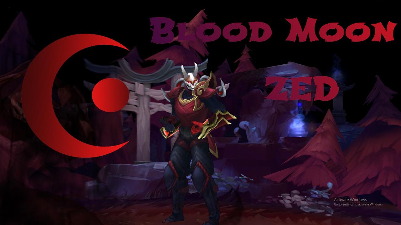 Custom skin Blood Moon Zed - grafika koncepcyjna #1
