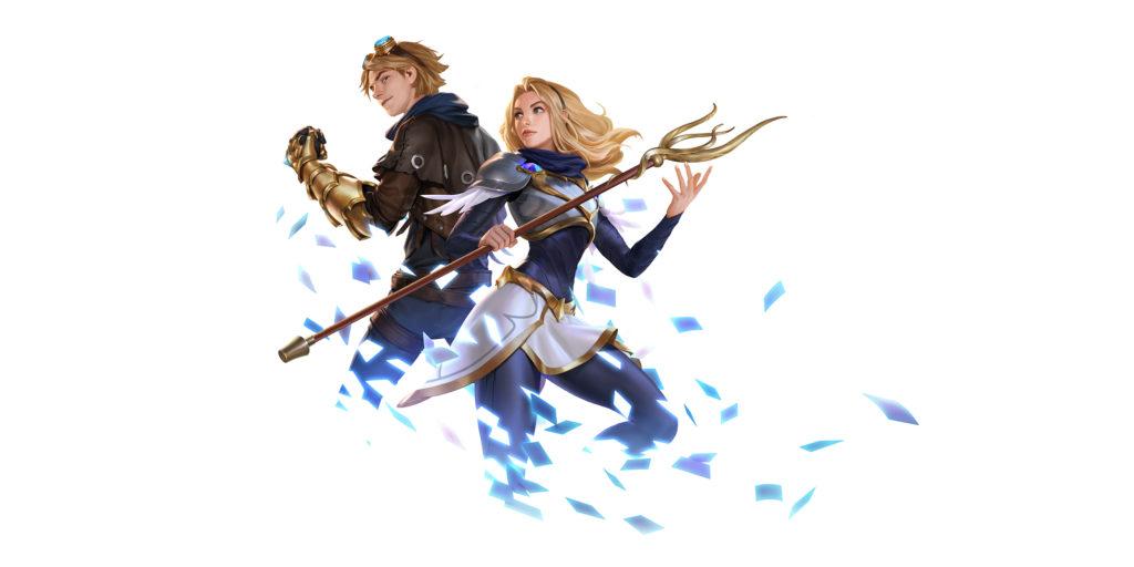 Lux i Ezreal z Legends of Runeterra