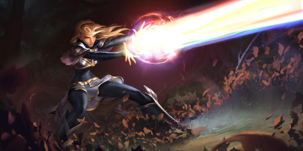 Lux - splash art z gry Legends of Runeterra (Riot Games)
