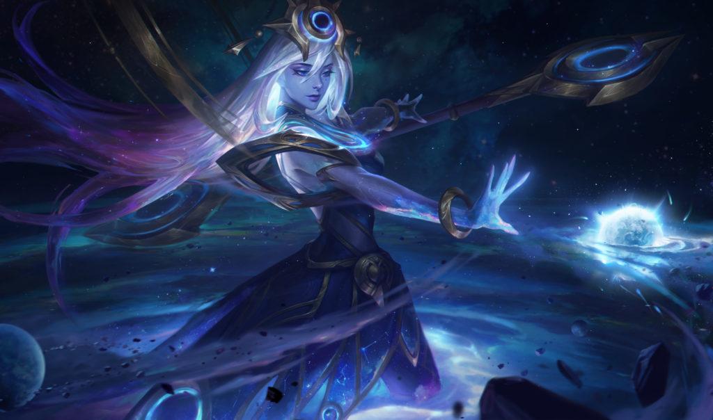 Cosmic Lux - full HD splash art skórki do Lux z gry League of Legends / Riot Games