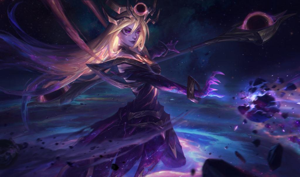Dark Cosmic Lux - full HD splash art skórki do Lux z gry League of Legends / Riot Games