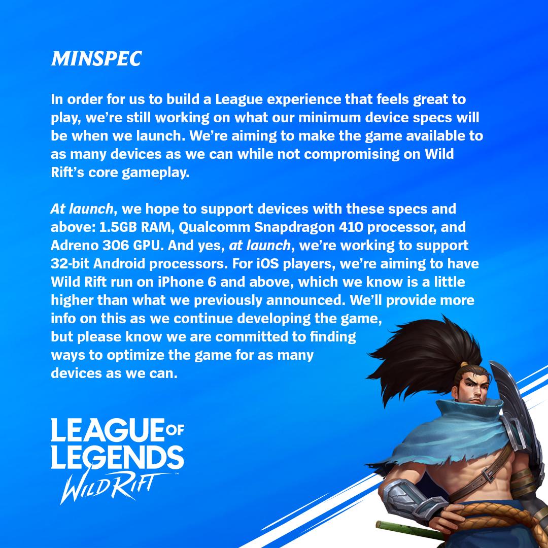 League of Legends: Wild Rift. Minimalne wymagania sprzętowe