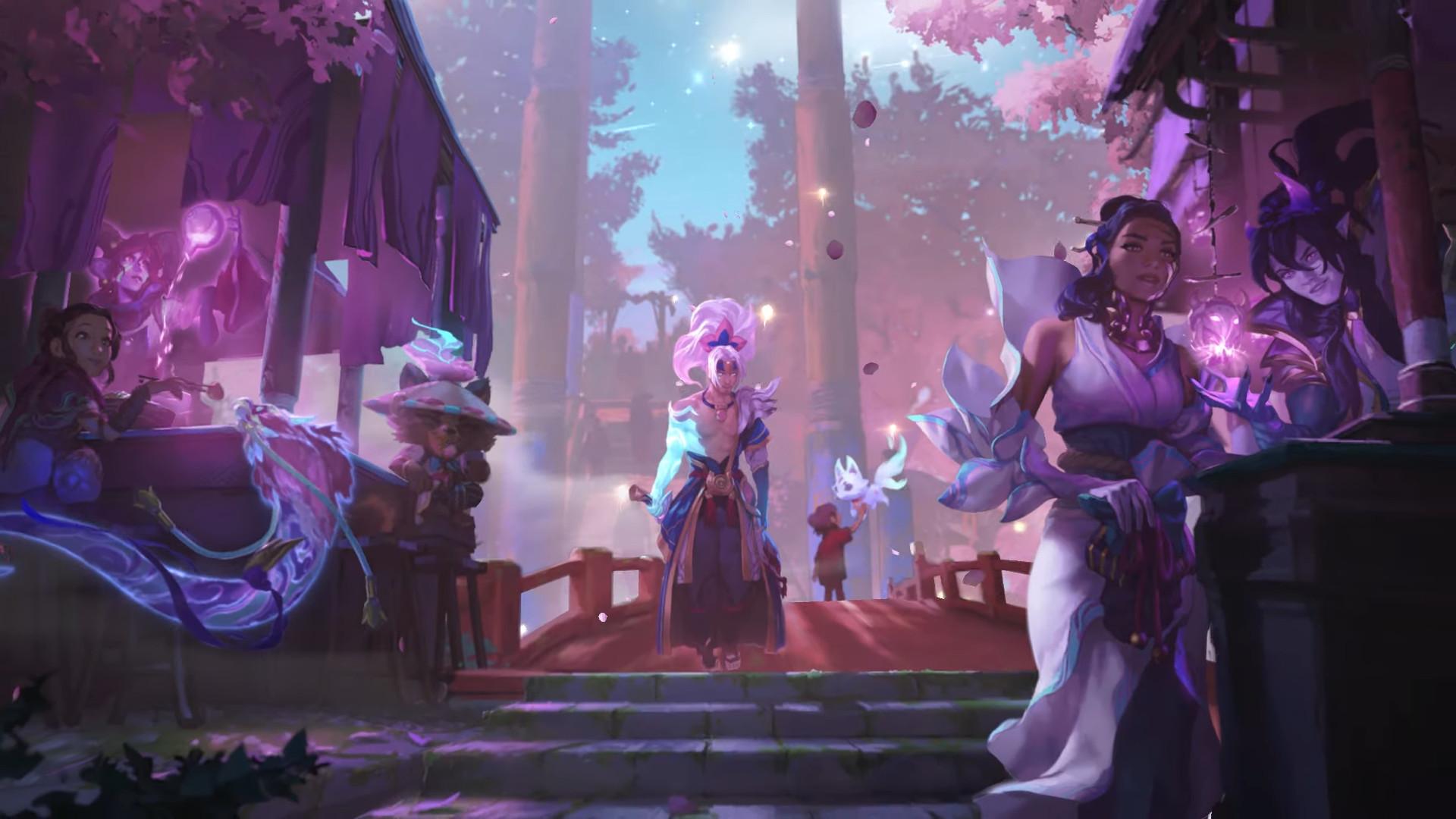 Spirit Blossom w Legends of Runeterra - grafika promocyjna. To nie Senna, a Corina Veraza