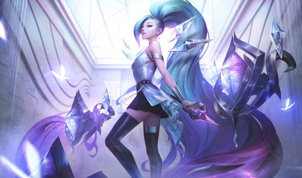 K/DA ALL OUT Seraphine Superstar (ultimate skin Seraphine) - splash art (League of Legends / Riot Games)